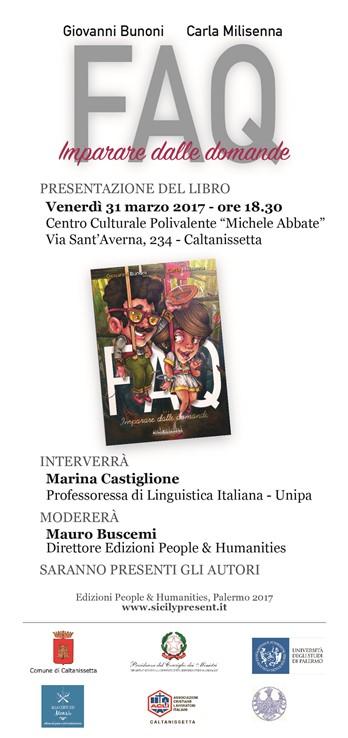 FAQ. Imparare dalle domande - Bunoni e Milisenna - presentazione del libro a Caltanissetta